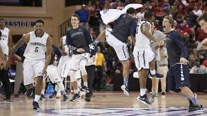 basketball bench celebrations monmouth s ncaa basketball team bench mob steals spotlight from