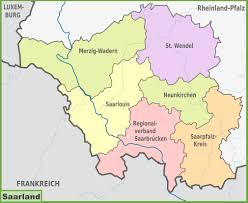 Germany On Map by Administrative Divisions Map Of Saarland