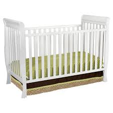 White Convertible Baby Cribs by Bedroom Simple White Sleigh Crib Design For Your Baby Nursery Ideas