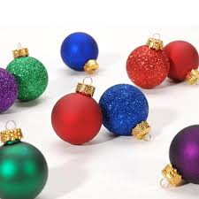 mini ornaments 1 ornament balls mixed colors