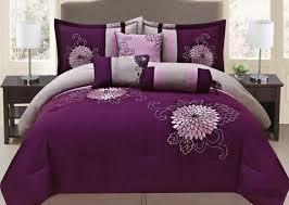 purple and turquoise bedding fancy collection 7 pc embroidery