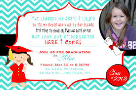 kindergarten graduation announcements preschool or kindergarten graduation invitation or graduation