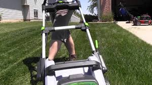 ego power battery powered lawn mower review youtube