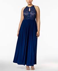 Navy Blue Lace Dress Plus Size Blue Plus Size Dresses Macy U0027s