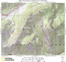 Bitterroot Mountains Map Paris Peak Idaho A Climbing Guide
