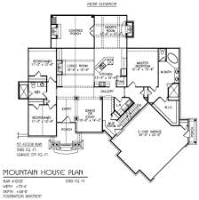 Detached Garage Floor Plans Mountain House Plans With Detached Garage