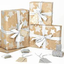 brown gift wrapping paper silver brown christmas wrapping paper by