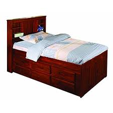 twin bed furniture with storage amazon com