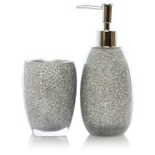amusing glitter bathroom accessories with create home interior