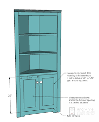 Free And Easy Diy Project And Furniture Plans by Ana White Build A Corner Cupboard Free And Easy Diy Project