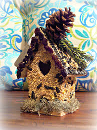 birdseed covered birdhouse all edible down to the glue more