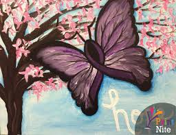3584 Best Color And Paint by Learn To Paint Relay For Life Butterfly