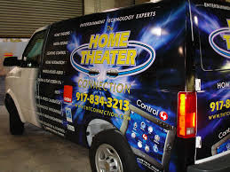 home theater connection vehicle wraps gsa signs