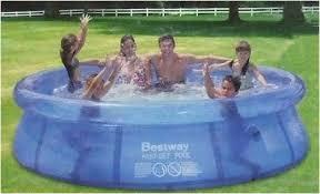 bestway fast set 8 u0027 paddling pool amazon co uk garden u0026 outdoors