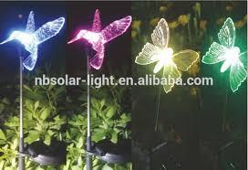 multi colored solar garden lights multi colored solar garden lights solar lights animal hummingbird