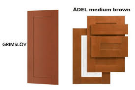 ikea adel medium brown kitchen cabinets grimslöv vs adel are they the same shade ikea hackers