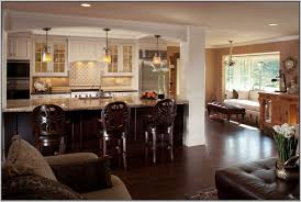 kitchen living room open floor plan open plan kitchen living room lighting ideas iammyownwife com