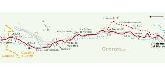 Camino De Santiago Map 25 From Villafranca Del Bierzo To O Cebreiro U2013 Camino De Santiago