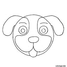 coloriage tete de chien jecolorie com