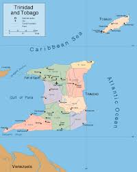 Trinidad World Map by Large Detailed Political Map Of Trinidad And Tobago With Roads And