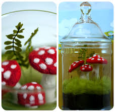 tiny apartment crafts needle felted terrarium and mushroom tutorial