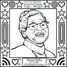 black history month rosa parks coloring page photo shared by
