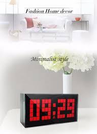 new digital clock large big jumbo led snooze wall desktop alarm