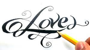 imagenes bonitas de te amo para dibujar como dibujar la palabra love paso a paso how to draw love in