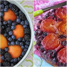 apricot berry upside down cake baking recipe