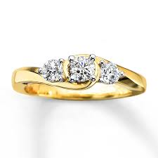 3 diamond rings 3 diamond ring 3 4 ct tw cut 10k yellow gold