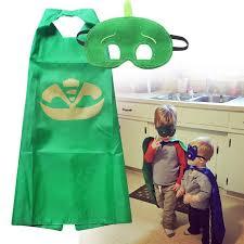 3 sets lot pj masks cloak cape mask owlette catboy gecko