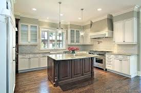 two tone kitchen cabinet ideas two tone kitchen cabinets and island view in gallery two tone