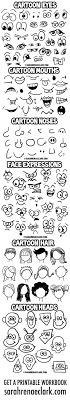 how to draw doodle faces doodle expressions collection small doodles
