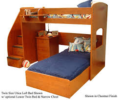 Twin Loft Bed With Stairs Utica Loft Bed Bedroom Furniture Beds Berg Furniture