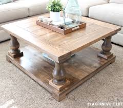 diy square coffee table baluster coffee table home design ideas