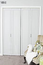 Cheap Bifold Closet Doors Diy Bi Fold Closet Door Makeovers Bright Green Door