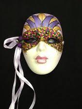 mardi gras ceramic masks mardi gras mask ceramic ebay