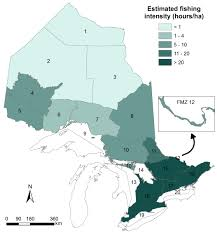 Map Of Ontario Canada by State Of Ontario U0027s Biodiversity Walleye Harvest In Inland Lakes