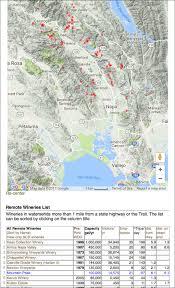 Napa Valley Winery Map Sodacanyonroad Mountain Peak Winery