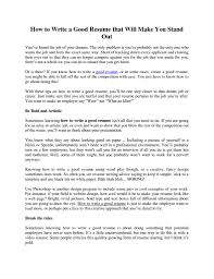 How To Make Professional Resume How To Make Your Resume Stand Out From The Rest Free Resume