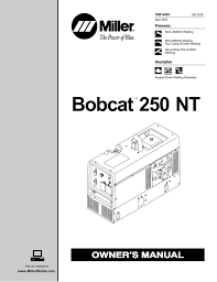 miller bobcat 250 nt owner s manual