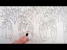 how to draw a tree and a forest youtube