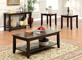 Cherry Accent Table Cm4669 Townsend Iii Coffee Table U0026 2 End Tables In Dark Cherry