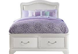 white storage bed acme naima queen bed with storage white