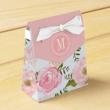 personalized favor boxes modern vintage pink floral personalized wedding favor box zazzle