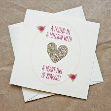 best birthday cards gold heart of sparkle best friend birthday card by be