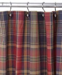 Blue Gingham Shower Curtain Red Plaid Shower Curtain Foter