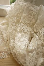 Lace Fabric For Curtains Ivory Lace Fabric Floral Embroidered Tulle Fabric Wedding Dress
