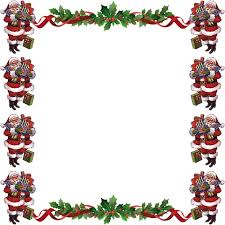 free christmas card borders clip art clipground