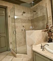 bathroom shower subway tile elegant diamond pattern wood accent